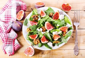 Figs, Arugula, Walnut & Cheese Salad